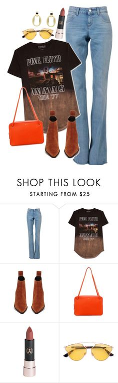 """""""ANIMALS '77"""" by drewxcupcake ❤ liked on Polyvore featuring Gucci, Hybrid, CÉLINE, Christian Dior, Monet and vintage"""