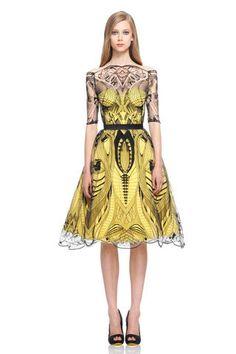 Black Abstract Pattern Alexander McQueen Dress (Resort 2010)