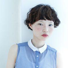 マッシュショート 外人風ウェーブ ヘアスタイルカタログ 髪型 HAIRstyle 美容室 可愛い ショート short パーマ