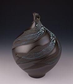 Black Bottle Vase - Mary Fox PotteryMary Fox Pottery