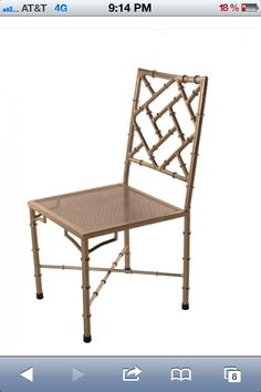 Metal Chippendale bamboo style chairs