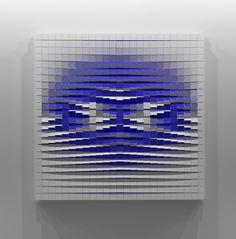 """Reminiscence"" Sculpture by Andrij Savchuk | Saatchi Art Wood Wall Art Decor, Wooden Wall Art, Red Art, Blue Art, Abstract Sculpture, Sculpture Art, Wooden Clock Plans, Plywood Art, Deco Paint"