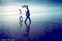 Absolutely Gorgeous Amber French Photograph. Seabrook Wedding. Stroll on the beach.