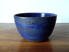 Vintage Blue and Gray Studio Pottery Bowl by MTippingAtelier, $54.00