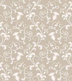 Seamless Floral Wallpaper Pattern Stock Vector - Illustration of background, vintage: 4695460