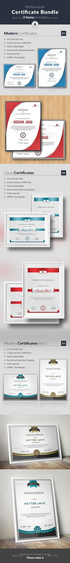 31 best PSD Templates   Certificate Design images on Pinterest     Certificate Template is suitable for your business  company or institution  in completion of any course  training  degree or job