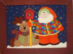 Imagen PACHTWORK SIN AGUJA - grupos. Patchwork Patterns, Merry Christmas, Christmas Ideas, Diy And Crafts, Patches, Santa, Clip Art, Kids Rugs, Quilts