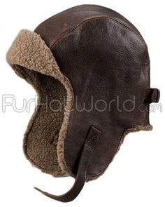 Shop FurHatWorld for the best selection of Pilot Hats. Buy the Vintage Distressed Leather Pilot Hat by FRR with fast same day shipping. Dark Brown Leather, Distressed Leather, Vintage Leather, Leather Hats, Leather Craft, Leather Men, Foto Newborn, Sheepskin Jacket, Aviator Hat
