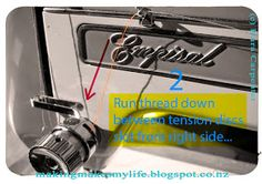 Making Makes My Life: Tutorial: How To Thread an Empisal Sewing Machine Sewing Machines, Threading, Carpenter, Sailing, Organization, Crafty, Clothing, Blog, How To Make