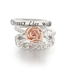 Chamilla Beauty and the Beast Ring set!! LOVE