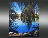 Peinture d' Eric Bruni - chezmamielucette Beautiful Paintings, Art Boards, Waves, Creative, Outdoor, Image, Cap, Ideas, Watercolor Painting