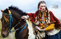 """Journey to the East"" Harper's Bazaar Indonesia Sept 2014 | Kseniya Shapovalova by Nicole P. Malina"