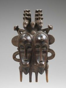Double mask, Senoufo, Ivory Coast.  Wood H. 32 cm.  © Coll.  Laura and James J. Ross.  Photo John Bigelow Taylor.