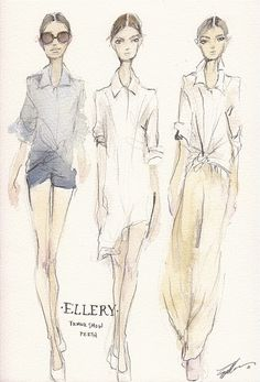 Fashion illustration - fashion sketches for Ellery Perth // Pippa McManus