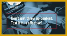 Test if it is effective! Digital Marketing, Content, Poster, Billboard