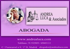 ABOGADOS MADRID BUGETE DE ABOGADOS MADRID ANDREA LUCA & ASOCIADOS DERECHO DE LA CONSTRUCCIÓN DERECHO CIVIL DERECHO LABORAL DERECHO ADMINISTRATIVO DERECHO DE FAMILIA DERECHO PENAL URBANISMO ASESORÍA FISCAL Y CONTABLE