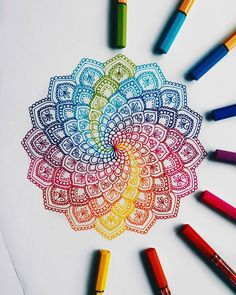No photo description available. Dibujos Zentangle Art, Zentangle Drawings, Zentangle Patterns, Doodle Drawings, Doodle Art, Mandala Doodle, Mandala Drawing, Mandala Artwork, Mandala Painting