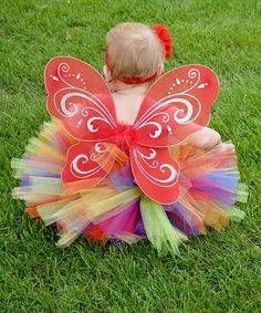 Look at this Dress Up Dreams Boutique Red & Green Super Fluffy Tutu Set - Infant & Girls on #zulily today!