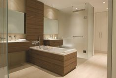 Look at how stunning our Frati panels look in a #bathroom setting! Water resistant and easy to clean.