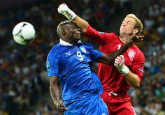 Joe Hart e Mario Balotelli  England - Italy  24 Giugno 2012   Olympic Stadium Kiev