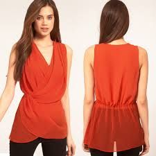 Resultado de imagen para blusa de chifon moda 2015