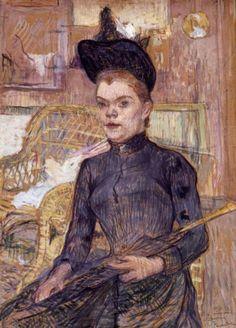 Toulouse-Lautrec. Woman in a Black Hat. 1890.