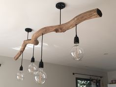 Driftwood Chandelier, Driftwood Art, Flat Ideas, Wood Lamps, Home Reno, Sweet Home, Rustic, Interior Design, Lighting