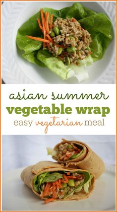 Asian Summer Vegetable Wraps Recipes: Simple vegetarian lunch or snack. Low-calorie and Weight Watchers friendly!