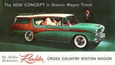 Rambler Cross Country Station Wagon vintage advertisement.