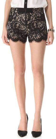 Love! Alice Olivia High Waisted Lace Shorts - Lyst