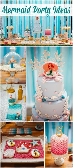 So many gorgeous details at this mermaid party! See more party ideas at CatchMyParty.com!