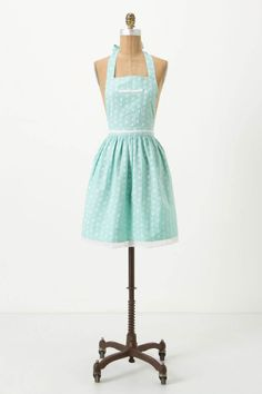 Reminds me of a 50's house wife dress Sugar-Spots Apron - Anthropologie.com