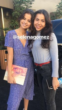November 6: Selena with a fan in Los Angeles, CA. (credit: cristinalizzul)