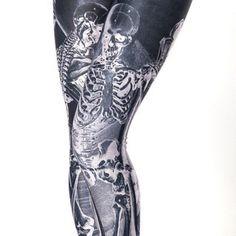 Resurrection Black Leggings - LIMITED | Black Milk Clothing