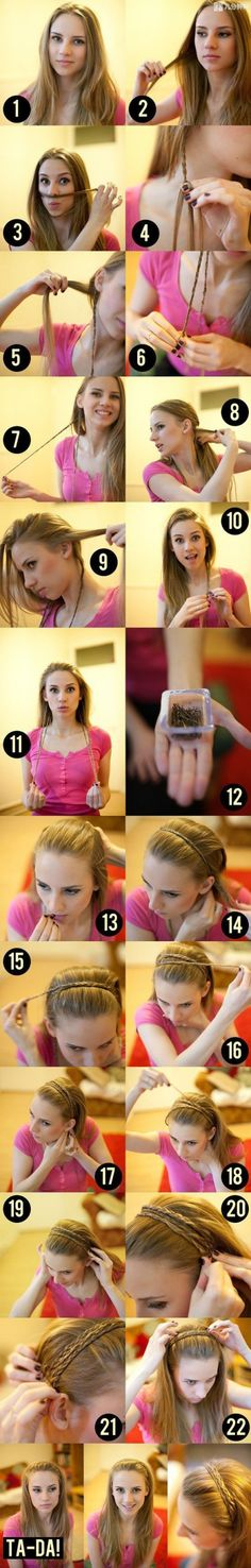 This is so very cute.... I love it & plan on trying this when my hair grows a little longer!