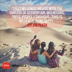 """""""I felt my lungs inflate with the onrush of scenery —air, mountains, trees, people. I thought, """"This is what it is to be happy."""" (Sylvia Path). Just one of our features on the @outdoorwomen Instagram channel, the largest human-powered, surf-to-summit women's adventure sports feed on Instagram. Click the photo and join us!"""