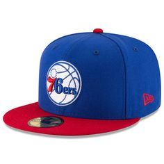 45e62784c74903 Philadelphia 76ers New Era Official Team Color 2Tone 59FIFTY Fitted Hat -  Royal/Red 59fifty