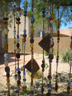Glass Beaded Mobile.. would alter to a wind chime