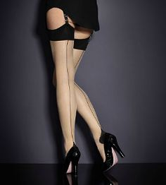 "I like these. :-)  Very classic. - Agent Provocateur Seam & Heel Stretch Stockings (as worn by Irene Adler in Sherlock, ""A Scandal in Belgravia""), $40."