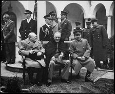 The big three: Stalin, Winston Churchill and Franklin Roosevelt