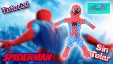 ♥ Tutorial: Spiderman/ hombre araña de gomitas (sin telar) ♥