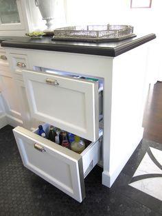 GE Monogram refrigerator drawers