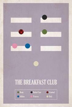 The Breakfast Club, minimalist poster. #want