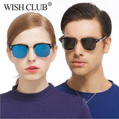 1befe22c2a WISH CLUB Fashion Sunglasses Men Women Polarized Mirror Sun Glasses. Gafas  De Sol Para HombreAnteojosHombre MujerMarcosCosas ...
