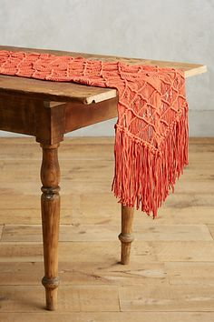 Fringed Macrame Runner #anthropologie