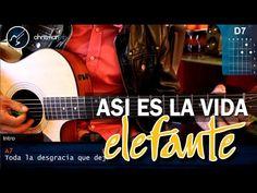 """Cómo tocar """"Así Es la Vida"""" de Elefante en Guitarra Acústica (HD) Tutori..."""