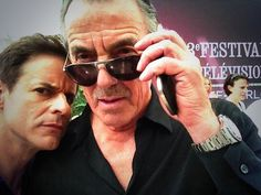 Christian LeBlanc & Eric Braeden, The Young & The Restless, 2013 Soap Opera Stars, Soap Stars, Eric Braeden, Best Soap, Bold And The Beautiful, Young And The Restless, Me Tv, Celebrity Pictures, No Time For Me