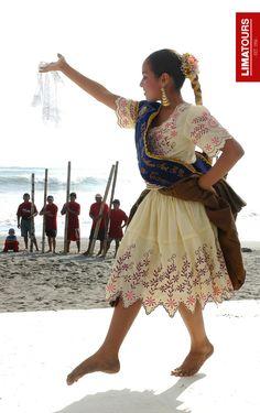 "Beautiful girl dancing a traditional coastal #dance known as ""Marinera"", at #Huanchaco Beach, in #Trujillo #Peru #travel #tradition #portrait"