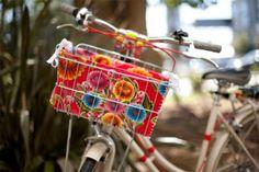 Add fabric to your bike's wire basket!