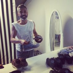 Umit Unal, the talented #fashion designer behind the scenes is being prepared for the #day.